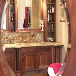 Walnut Vanity Cabinet 2